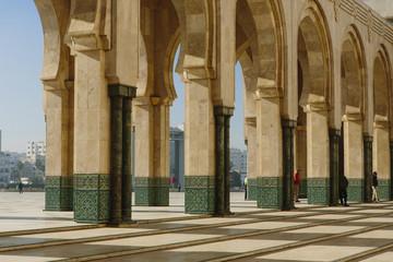 Columns at Hassan II Mosque