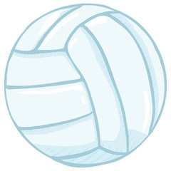 Vector Single Cartoon Blue Volleyball Ball