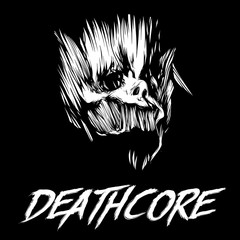 Skull of head above the inscription on Deathcore