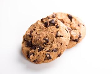zwei runde American Cookies Süßigkeiten zum Naschen
