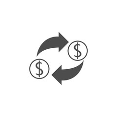 currency exchange icon.Element of popular banking icon. Premium quality graphic design. Signs, symbols collection icon for websites, web design,