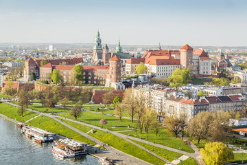 Wall Mural - Wawel castle beautifully located in the heart of Krakow, Poland
