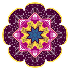 Decorative vintage mandala