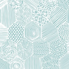 Vector abstract pattern. Hand drawing. Decorative background