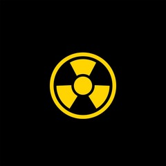 Radiation flat vector icon. Radiation vector sign