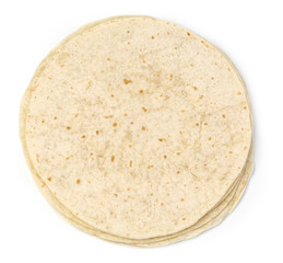 tortilla wrap isolated