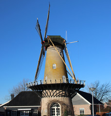 Windmill in the Netherlands, in Krimpen aan den Ijssel