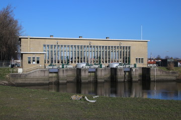 """Mr. P.A. Pijnacker Hordijk"" water pumping station in Gouda, the Netherlands"