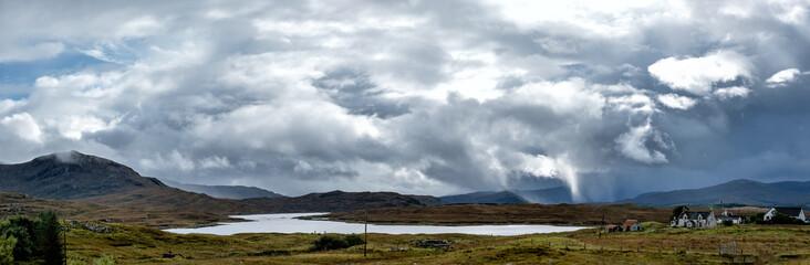 Powerful storm developing in rural Northwest Scotland.