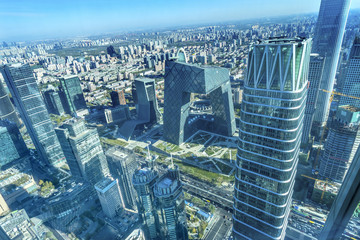 World Trade Center Z15  Towers Skyscrapers Guamao District Beijing China