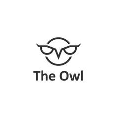 Creative owl. Vector logo template