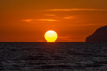 Marina di Minturno LT, tramonto