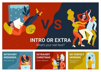 Introvert Extravert Horizontal Banners