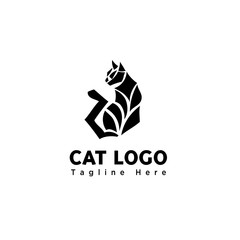 silhouette body part stand cat logo