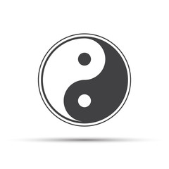 Yin yang icon with shadow