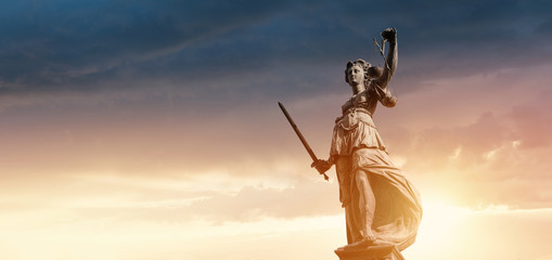 Justitia Figurine Statue - Personification of Justice