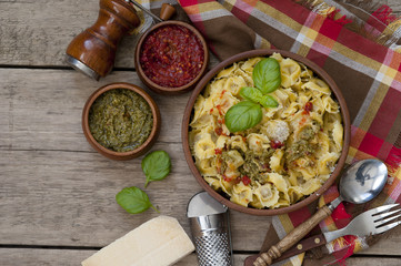 Italian traditional food. Homemade ravioli