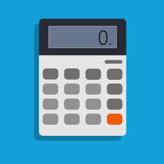 calculator, vector icon illustration , flat design