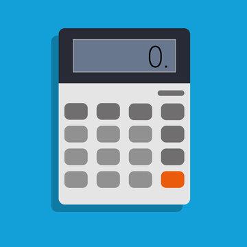 calculator, vector icon illustration , flat design