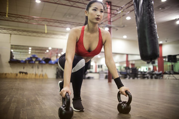 Focused athlete