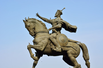 Statue of Amir Timur (Tamerlane, 1336-1405). He was the founder of the Timurid Empire in Central Asia and became the first ruler in the Timurid dynasty. Tashkent, Uzbekistan