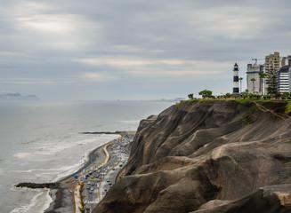 Coast of Miraflores District, Lima, Peru