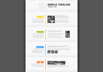 Gray Vertical Timeline Layout