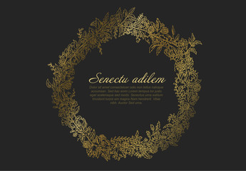 Golden Wreath Digital Card Layout