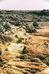 in  danakil ethiopia africa  the volcanic depression