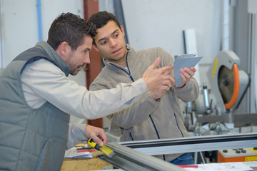 student in woodwork training course