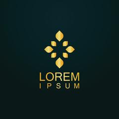 gold leaf ornnament logo