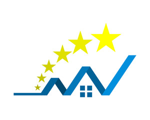 star house chart image vector icon logo