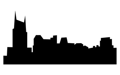 free nashville skyline silhouette on white background