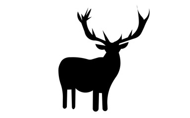 free clip art deer silhouette on white background