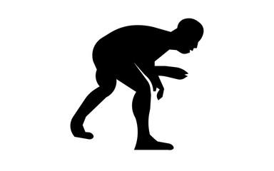 wrestling silhouette clip art on white background