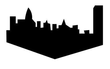charlotte skyline silhouette on white background