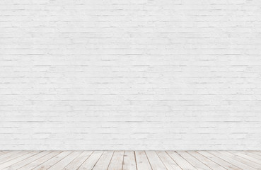 white brick wall with wood floor room