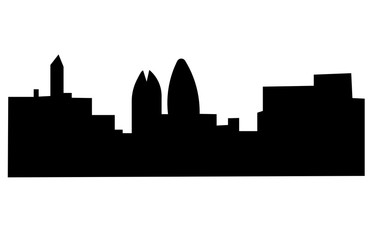 buffalo skyline silhouette on white background