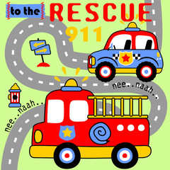 Rescue team cartoon
