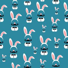 man wearing Easter bunny ears