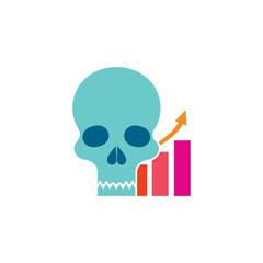 Graph Skull Logo Icon Design