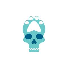 Paw Skull Logo Icon Design