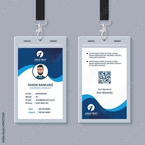Modern Clean ID Card Template\