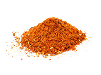 Cayenne pepper spice isolated on a white background