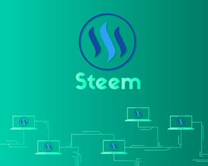 Blockchain Steem technology background collection