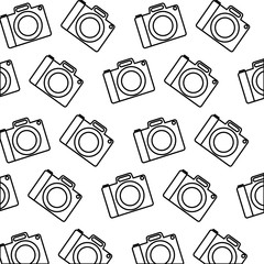 camera photographic pattern background vector illustration design