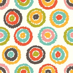Seamless pattern, polka dot fabric, wallpaper, vector
