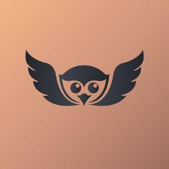 Owl logo vector illustrations
