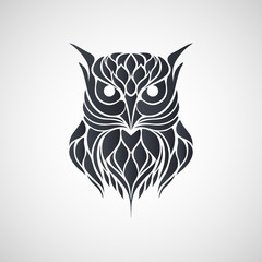 Owl logo vector illustrations