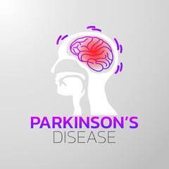 Parkinsons Disease icon design, medical logo. Vector illustration